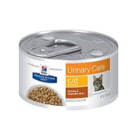 Hill's Prescription Diet c/d Multicare Urinary Care Chicken & Vegetable Stew Canned Cat Food, 2.9 oz., Case of 24