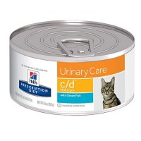 Hill's Prescription Diet c/d Multicare Urinary Care with Ocean Fish Canned Cat Food, 5.5 oz., Case of 24