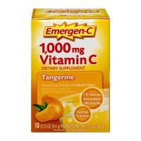 Emergen-C 1,000 mg Vitamin C Tangerine Fizzy Drink Mix Dietary Supplement