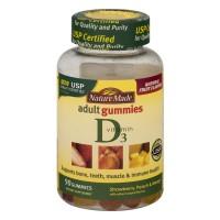 Nature Made Vitamin D3 2000 IU Adult Gummies Strawberry, Peach & Mango