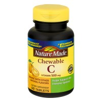 Nature Made Vitamin C 500 mg Orange Flavor Supplement Chewable Tablets