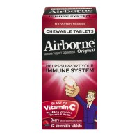 Airborne Dietary Supplement Blast of Vitamin C Berry Chewable Tablets
