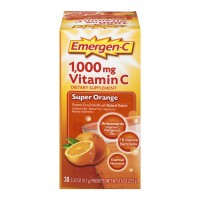 Emergen-C Super Orange Fizzy Drink Mix Dietary Supplement 1000mg Vitamin C