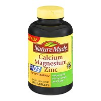 Nature Made Calcium Magnesium & Zinc with Vitamin D Supplement Tablets