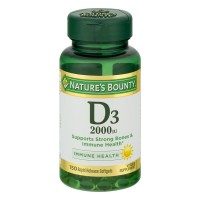Nature's Bounty Vitamin D3-2000 IU Super Strength Supplement Tablets