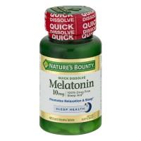 Nature's Bounty Melatonin 10mg Quick Dissolve Tablets