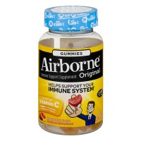 Airborne Immune Support Supplement Blast of Vitamin C Fruit Flavor Gummies