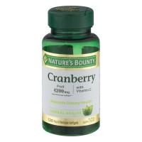 Nature's Bounty Cranberry 4200 mg Plus Vitamin C Softgels