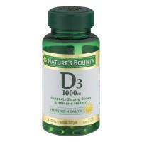 Nature's Bounty Vitamin D3 1000 IU Softgels