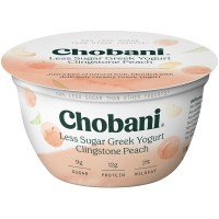 Chobani Greek Yogurt Clingstone Peach Low Fat