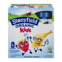 Stonyfield YoKids Yogurt Pouches Straw-Nana-Rama Organic - 4 ct