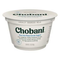 Chobani Non-Fat Greek Yogurt Plain 0% Milk Fat