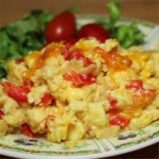 2 Eggs with Potatoes, Peppers, Onions, Tomato and Cheese