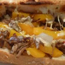 Cheese Steak Sandwich with Peppers & Onions