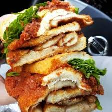Chicken Cutlet Parmigiana Sandwich