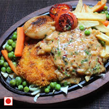 Chicken Sizzler with 2 Sides