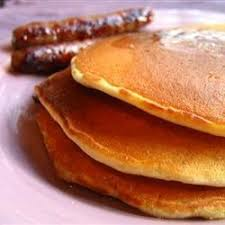 Pancakes W/sausage or Bacon