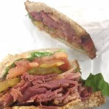 Pastrami and Cheese SUB Sandwich Lettuce, tomato and onion