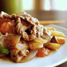 Picadillo over French Fries