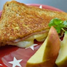 Roasted Pear and Ham Panini