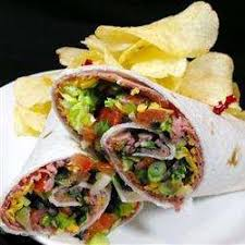 Lunch Steak and Avocado Wrap