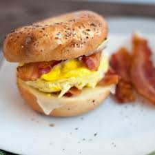 Turkey Bacon with Egg and Cheese Sandwich
