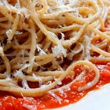Spaghetti with Fresh Tomato Sauce OR Butter & Cheese Sauce
