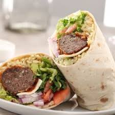 Grilled Meat Balls Gyro Wrap