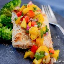 Grilled Salmon with Fresh Mango