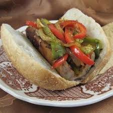 Grilled Sausage with Peppers and Onions