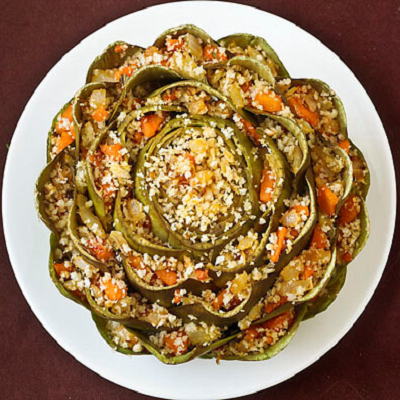 Whole Stuffed Artichoke